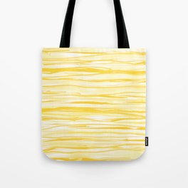 Milk and Honey Yellow Stripes Abstract Tote Bag