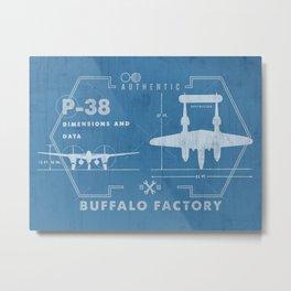 BUFFALO FACTORY P-38 Metal Print