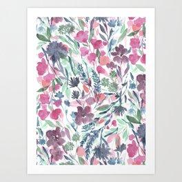 Upside Floral Art Print