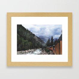 Train ride through the Colorado mountains Framed Art Print