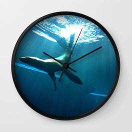 Underwater backflips Wall Clock