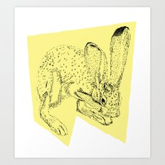 Yellow Hare Art Print