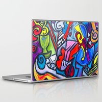 mortal instruments Laptop & iPad Skins featuring Musical Instruments          by Ming Myaskovsky
