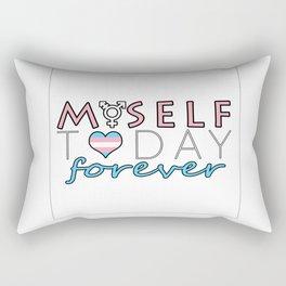 Myself Today Forever Rectangular Pillow