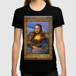 Mona (Kevin) Lisa : Satire + Contemporary Fine Art T-shirt