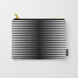 op art - horizontal triangles Carry-All Pouch