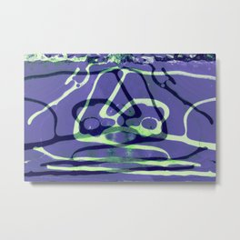 """""""Patterns of Nature"""" Symmetrical Frozen Puddle on the Dirt Road 2 in Purple Metal Print"""