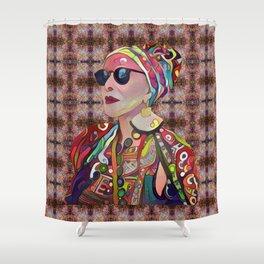 Portrait of a Fancy Lady Shower Curtain