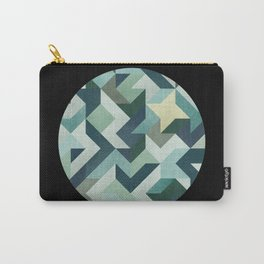 circle geometry (Black Background) Carry-All Pouch
