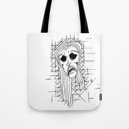 Exhausted Face Tote Bag