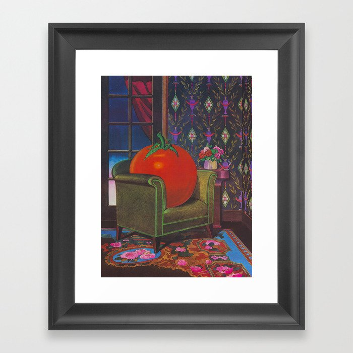 Therapy With A Tomato Milton Glaser - Tomato- Something unusual is going on here - 1978 Gerahmter Kunstdruck