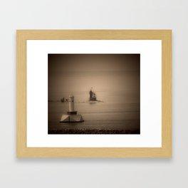 A Lighthouse & Beacon Framed Art Print