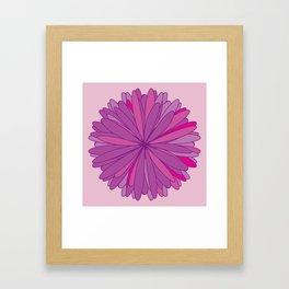 Big beautiful flower Framed Art Print