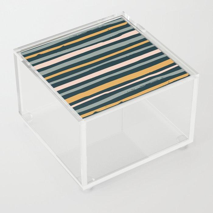 Autumn is calling - stripes Acrylic Box
