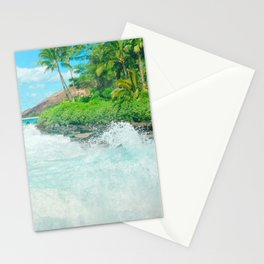 Aloha mai e Paako Beach Mākena Maui Hawaii Stationery Cards
