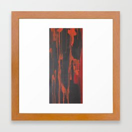 Dripping both ways - slaughtered.  Framed Art Print