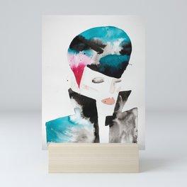Color-bleed Portrait of a Rocker Mini Art Print