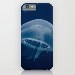 Small Blue Jelly Animal / Wildlife Photograph iPhone Case