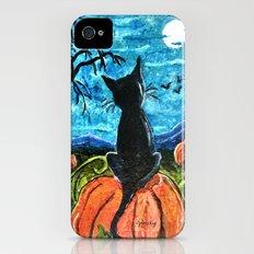 Cat in Pumpkin Patch iPhone (4, 4s) Slim Case