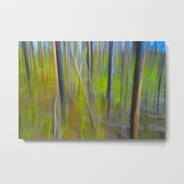 Forest Impression an in Camera Altered Image from Yellowstone Metal Print