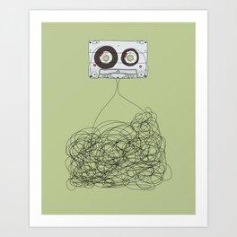 Analog Unravelled Art Print