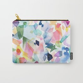 Watercolor Crystals, Gems & Diamonds Carry-All Pouch