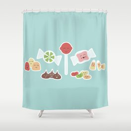 Happy Candy Shower Curtain