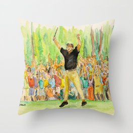 Phil Mickelson_Pro golfer Throw Pillow