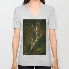 Study Of A Birch Tree - Digital Remastered Edition Unisex V-Neck