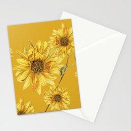 Sunflower Pattern 3 Stationery Cards