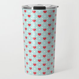 Valentine's Day Pattern | Love Heart Relationship Travel Mug