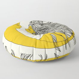 Sun and Moon Floor Pillow