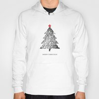 merry christmas Hoodies featuring Merry Christmas by Zach Terrell