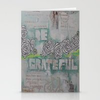 grateful dead Stationery Cards featuring Grateful by TrishRay