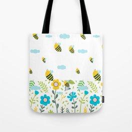 Bee Flaying Tote Bag