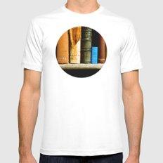 Books  Mens Fitted Tee White MEDIUM