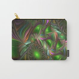 Colorful and Luminous, Abstract Fractal Art Carry-All Pouch
