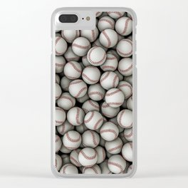 Baseballs Clear iPhone Case