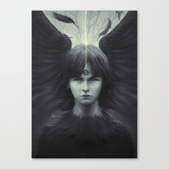 Eye of Raven Canvas Print