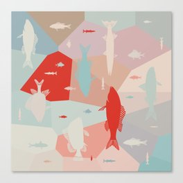 California Pastel Fish Canvas Print