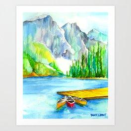 Lake louise watercolor art print