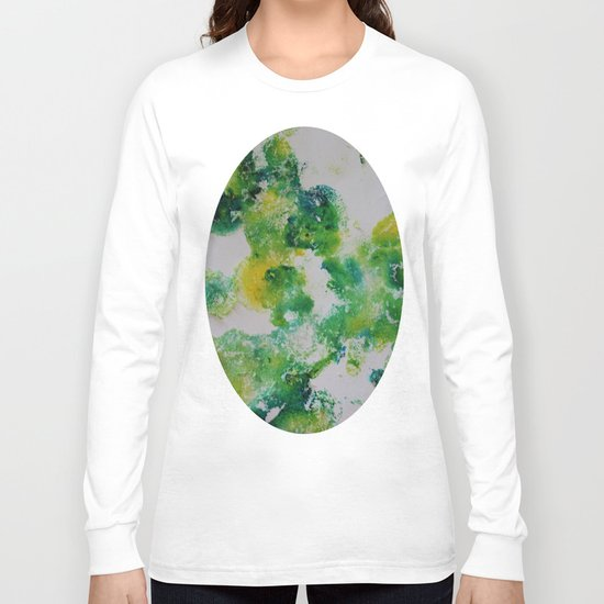 Its about space - in greens and yellows Long Sleeve T-shirt