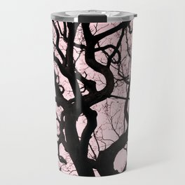Tree Silhouette - Pink Travel Mug