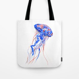 Jellyfish blue red Tote Bag