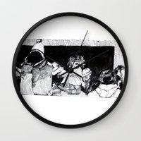 velvet underground Wall Clocks featuring Underground by T.K. Dolan