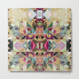 Multicolored abstract pattern Metal Print