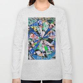 Green Graffiti Abstract Mosaic Long Sleeve T-shirt
