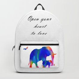 Elephant mom and baby Backpack