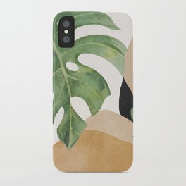 Abstract Art Tropical Leaves 3 iPhone Case