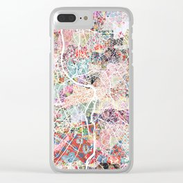 Toulouse map Clear iPhone Case